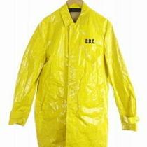 Used Dsquared2 Coat Polyurethane Resin Zip Up Print 48 Yellow /aa Os Mens Photo