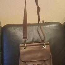 Used Fossil Long Live Vintage Messenger Bag Crossbody Brown/gray Leatherpurse Photo