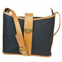 Used in Yves Saint Laurent Shoulder Bag Black Brown Pvc Leather 63mc046 Photo