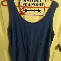 Used Lane Bryant Tank Top Blue 18/20 Photo