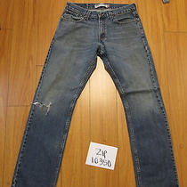 Used Levi's 514 Slim Straight Fit Grunge Jean Tag 32x32 Meas 31x32 Zip10350 Photo