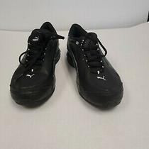 Used Mens Black Puma Sneakers Size 9 1/2 Photo