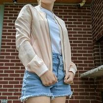 Used Merona Blush Pink Women's Bomber Jacket Size Small - So Cute Photo