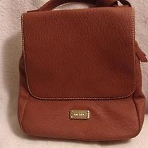 Used Nine West Backpack in Tan Color 10 in 9.5 in Manmade Materials Photo
