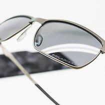 Used Oakley Sunglasses Tinfoil Brushed Chrome Grey Polarized Oo4083-05 Photo