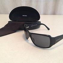 Used Original Black  Prada Sunglasses With Original Box and Cleaner Photo
