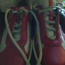 Used Prada Sneakers America's Cup Red Leather  Photo