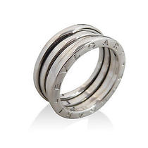 Used Pre-Owned Bvlgari Silver 18k White Gold B-Zero Ring Photo