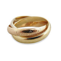Used Pre-Owned Cartier Gold/ Silver/ Rose Gold 18k Tri-Color Gold Trinity Ring Photo