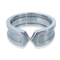 Used Pre-Owned Cartier Silver 18k White Gold C2 Ring Photo