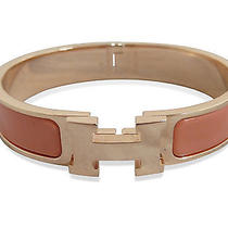 Used Pre-Owned Hermes Champagne Gold/ Orange Ceramics/ Stainless Steel Clic Cla Photo