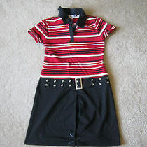 Used Red and Black Dress Childrens Size Large Christie Brooks Photo