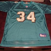 Used Reebok Mens Ricky Williams Miami Dolphins Nfl Football Swag Jersey Sz Xl Photo