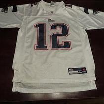 Used Reebok Tom Brady New England Patriots Nfl Jersey Sz Youth l(14-16) Mens Xs Photo