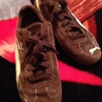 Used  Size  9 Puma Speed Cat Shoes Cell Brown White Photo