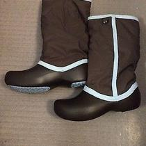 Used Snow Winter Crocs Boots Size 9 Photo
