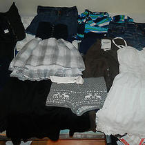 Used Women's Name Brand Clothes Lot (Aeropostale American Eagle a&f) Small Photo