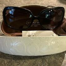 Used Womens Black Signature Coach Sunglasses Scarlett L902 With Case and Cloth Photo