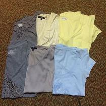 Used Womens Lot of 6 Short Sleeve Shirts American Eagle Express Eddie Bauer Photo