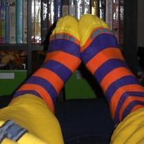Used/worn Men's Colorful Brand-Name Socks - Unique/rare Styles Photo