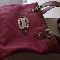 Used Xoxo Wine Cloth & Leather  Bag Purse Photo