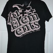 Used Zu Elements Black Men's Fashion T-Shirt Sz Medium M Free Shipping Photo