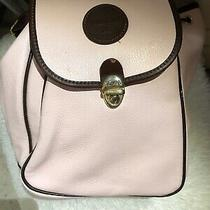 Valentina Made in Italy Pink Blush Pebbled Italian Leather Backpack Orig 330 Photo