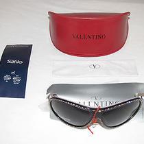 Valentino 5534/s 0exa Black Rose Sunglasses Shades Brand New W/ Case Exaon Exa Photo