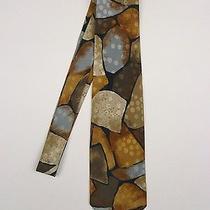 Valentino - Authentic & Luxurious - Abstract Print Textured 100% Silk Neck Tie Photo