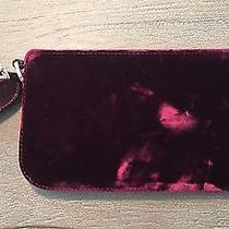 Valentino Beautiful Wrist Clutch Bag Burgundy With Crystals Photo