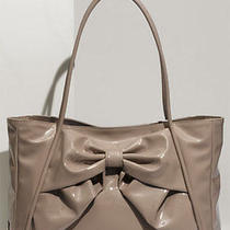 Valentino Betty Bow - Small Lacca Blush Lacquered Canvas Tote Handbag Bag Purse Photo