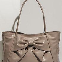Valentino Betty Bow - Small Lacca Blush Lacquered Canvas Tote Handbag Bag Purse Photo