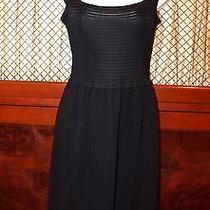 Valentino Black Dress  Black Knit Size Medium  Photo