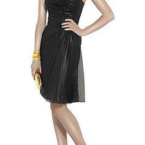 Valentino Black Lacquered Front Strapless Silk Dress Sz 8 Nwt Photo