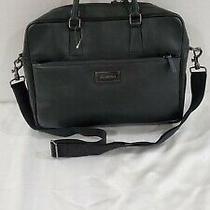 Valentino Black Leather Messenger Bag Men's Photo