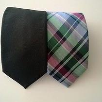 Valentino Black Neck Tie With Free Gift Photo