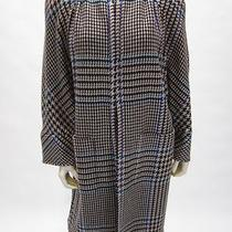 Valentino Boutique Vintage Cashmere/wool Houndstooth Tweed Swing Coat Sz 6 Photo