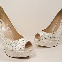 Valentino 'Bridal' Open Toe Pump Satin Ivory Size 41 (Us 11) Photo