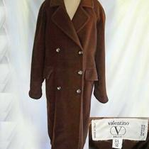 Valentino Coat Cashmere Wool Oversize Maxi Brown Winter Vintage 90s  Miss v 10 Photo