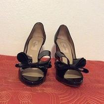 Valentino d'orsay Couture Bow Pumps Black Sz 36.5 Photo