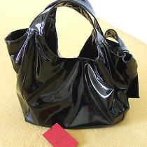 Valentino Garavani  Black Patent Bow Purse Medium Size Worn Once Photo
