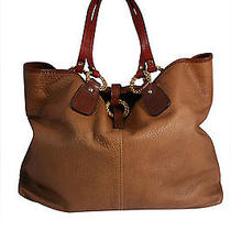 Valentino Garavani Brown Pebbled Leather Handbag 2200 Photo
