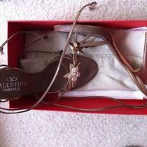 Valentino Garavani Mother of Pearl Flower Sandals   Authentic-Worn Once- Sz 40 Photo