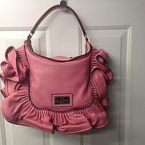 Valentino Garavani Pink Leather Volants Ruffle Hobo-Very Rare-Unique Photo