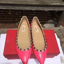 Valentino Garavani Rockstud Ballet Flats Shoes Blush Pink Size 38.5/8.5 Photo