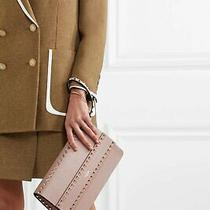 Valentino Garavani Rockstud Blush Pink Leather Clutch Bag Wristlet Poudre Photo