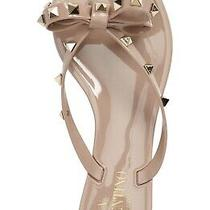 Valentino Garavani Rockstud Jelly Thong Sandal Size 39 Blush (24) Photo