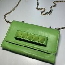 Valentino Garavani Rockstud Va Va Voom Clutch Shoulder Bag Green Leather Photo