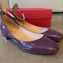 Valentino Garavani Tango Patent Leather Pumps - Berry/aubergine - Size 39.5 Photo