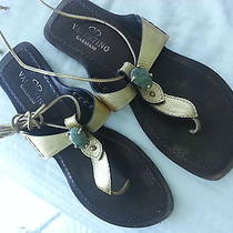 Valentino Gold Sandals With Gold String Straps Photo